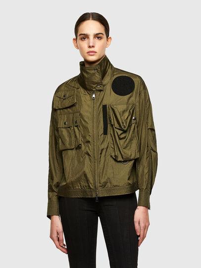 Diesel - C-CORAL, Verde Militar - Camisas - Image 1