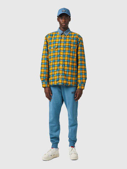 Diesel - S-BUN, Azul marino/Amarillo - Camisas - Image 4