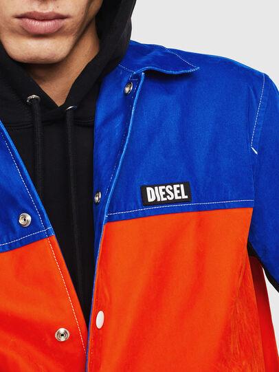 Diesel - J-BELL, Azul/Rojo - Chaquetas - Image 3