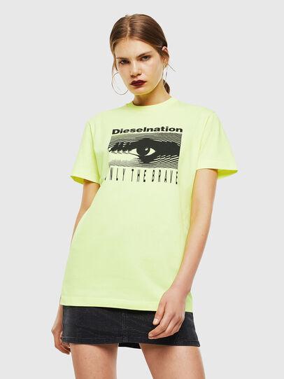 Diesel - T-DIEGO-J4, Amarillo Fluo - Camisetas - Image 2