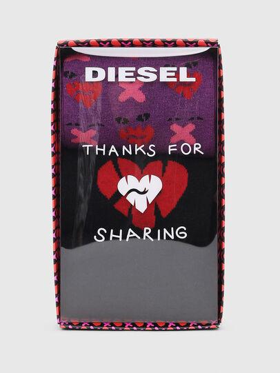 Diesel - SKM-HERMINE-THREEPAC, Negro/Violeta - Calcetines - Image 2