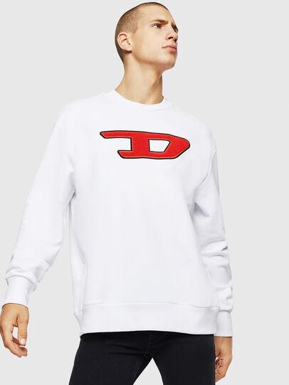 Diesel - S-CREW-DIVISION-D, Blanco - Sudaderas - Image 1