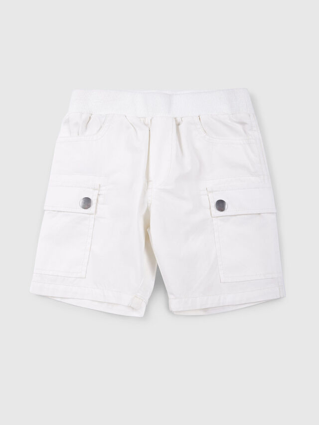 Diesel - PECCIB, Blanco - Shorts - Image 1
