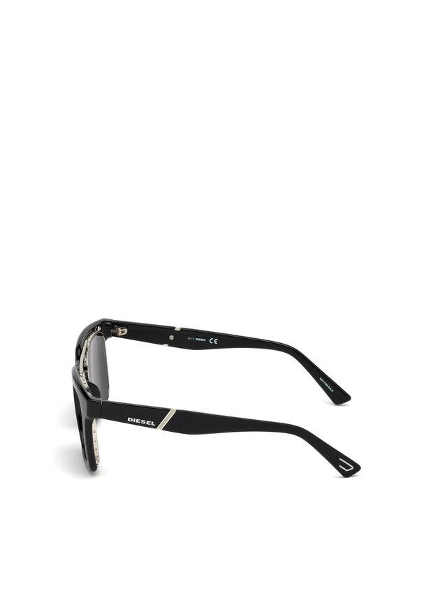Diesel - DL0250, Negro Brillante - Gafas de sol - Image 2