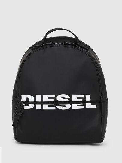 Diesel - F-BOLD BACK FL, Negro Brillante - Mochilas - Image 1