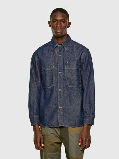 Diesel - D-RAPP, Azul Oscuro - Camisas de Denim - Image 1