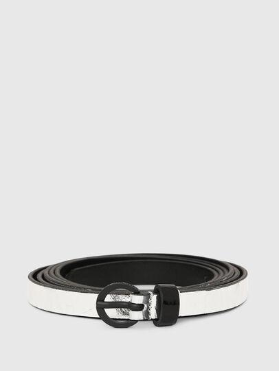Diesel - B-EVER, Plata - Cinturones - Image 1