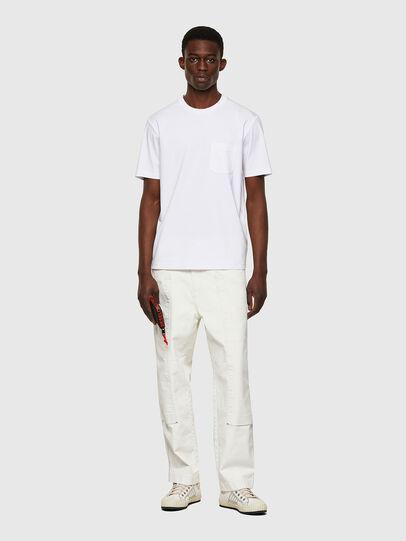 Diesel - T-JUST-WORKY, Blanco - Camisetas - Image 4