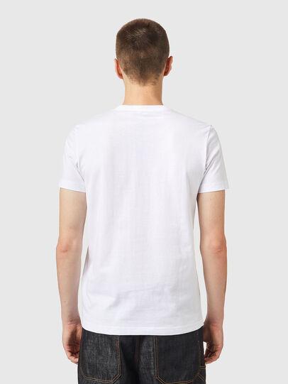 Diesel - T-DIEGOS-K26, Blanco/Rojo - Camisetas - Image 2