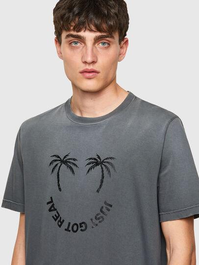 Diesel - T-JUST-B64, Gris - Camisetas - Image 3
