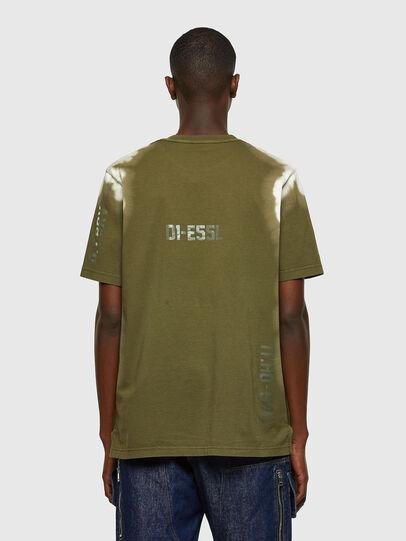 Diesel - T-JUBIND-SLITS-A3, Verde Militar - Camisetas - Image 2