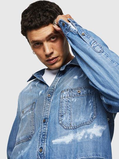 Diesel - D-FRED, Azul Claro - Camisas de Denim - Image 3