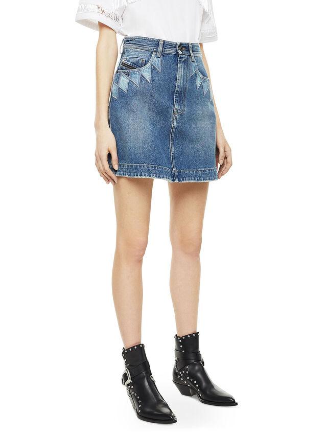 Diesel - OSSANA, Blue Jeans - Faldas - Image 4