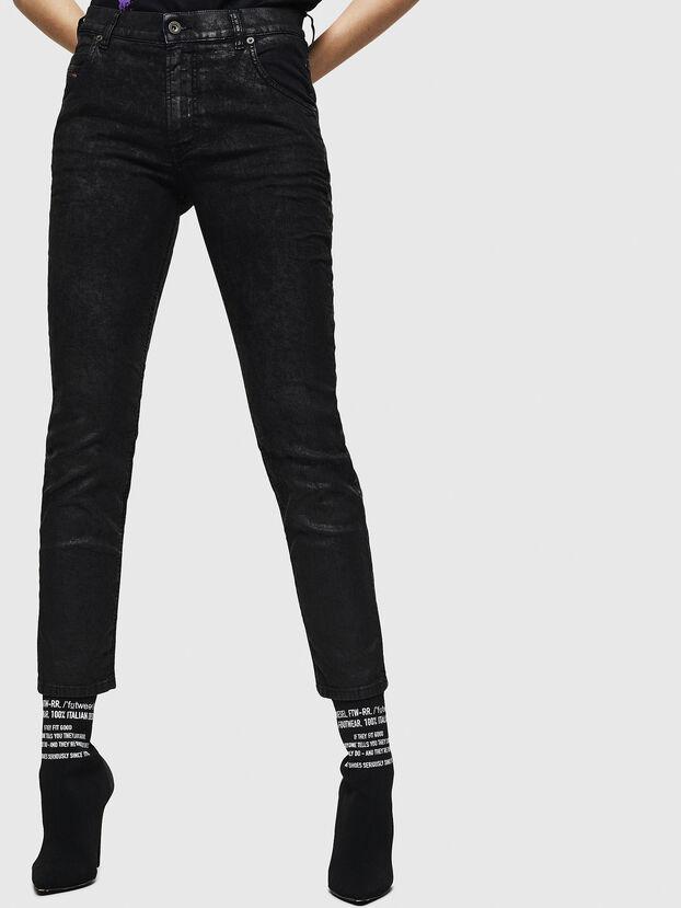 Krailey JoggJeans 084AG, Negro/Gris oscuro - Vaqueros