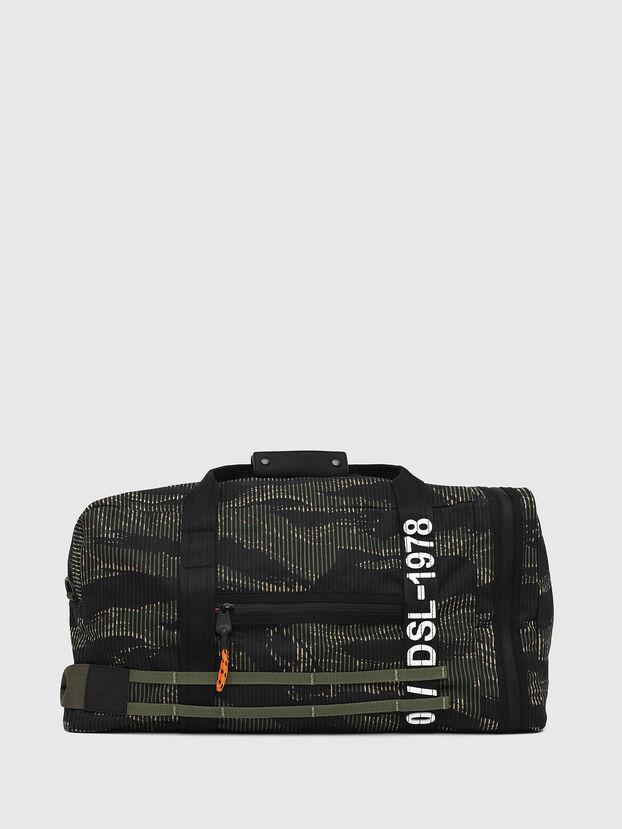 M-CAGE DUFFLE M, Negro/Verde - Bolsos de viaje