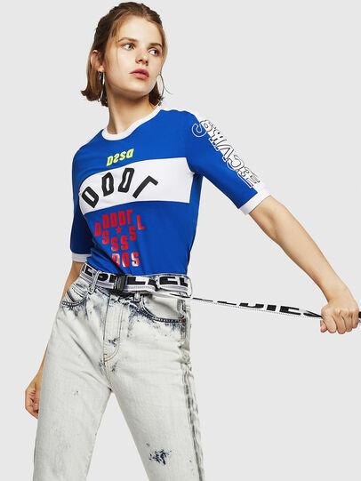 Diesel - T-HEIA-B, Azul Brillante - Camisetas - Image 4