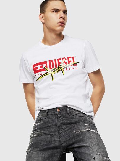 Diesel - T-DIEGO-BX2, Blanco - Camisetas - Image 4