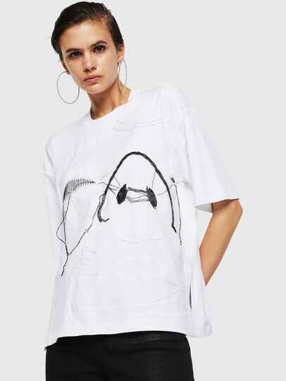 Diesel - TELIX, Blanco - Camisetas - Image 1