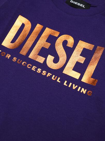 Diesel - TJUSTLOGOB-FL ML, Violeta - Camisetas y Tops - Image 3