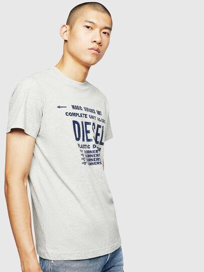Diesel - T-DIEGO-B6, Gris Claro - Camisetas - Image 1
