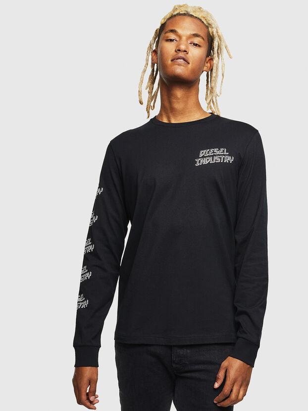 T-DIEGO-LS-J1, Negro - Camisetas