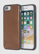 BROWN LEATHER IPHONE 8/7/6s/6 CASE, Piel Marrón - Fundas
