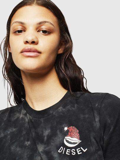 Diesel - UFTEE-ROUNDIE, Negro - Camisetas - Image 3