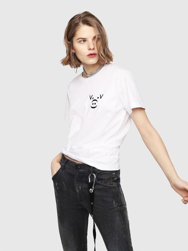 Diesel - CL-T-GADIE, Blanco - Camisetas - Image 2