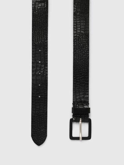 Diesel - B-CROCLE, Negro - Cinturones - Image 3