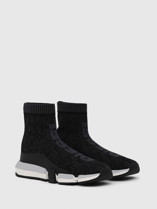 Diesel - H-PADOLA MID SOCK, Negro - Sneakers - Image 2