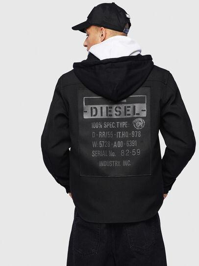 Diesel - J-JESSY-HOOD, Negro - Chaquetas - Image 2
