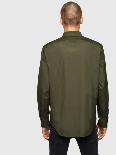 Diesel - S-BILL, Verde Oscuro - Camisas - Image 2