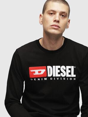 T-JUST-LS-DIVISION, Negro - Camisetas