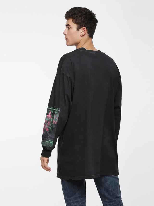 Diesel - T-LUCAS-LS-XF, Negro - Camisetas - Image 2