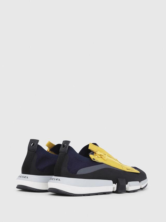 Diesel - H-PADOLA LOW ZIP, Azul/Amarillo - Sneakers - Image 3