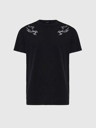 Diesel - T-DIEBIND, Negro - Camisetas - Image 1