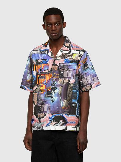Diesel - S-DOOMY, Azul marino/Rosa - Camisas - Image 1