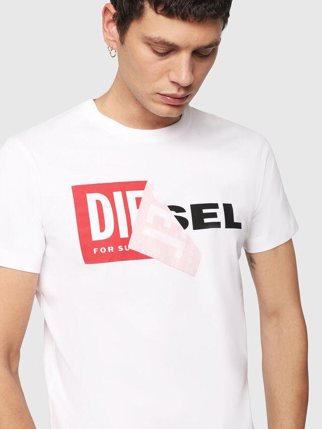 Diesel T-DIEGO-QA, Blanco - Camisetas - Image 3