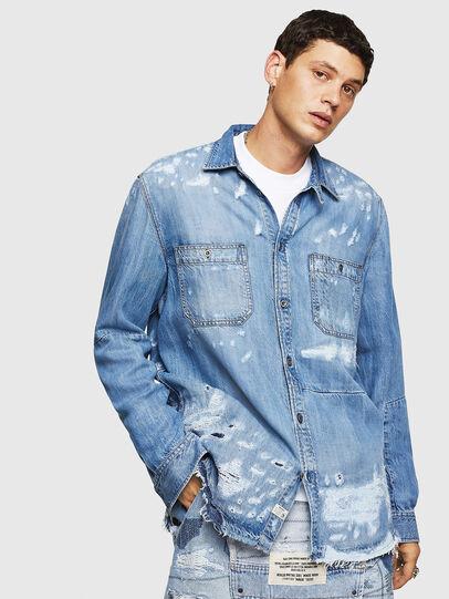 Diesel - D-FRED, Azul Claro - Camisas de Denim - Image 1