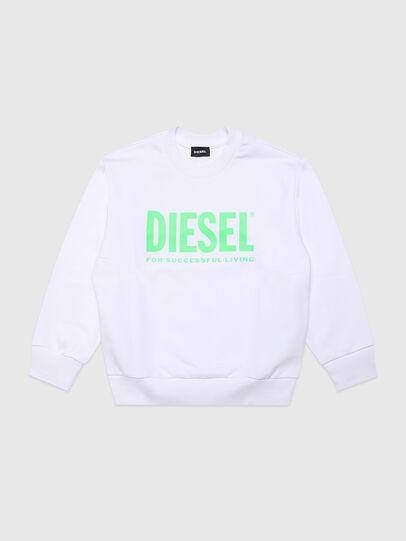 Diesel - SCREWDIVISION-LOGOX, Blanco - Sudaderas - Image 1