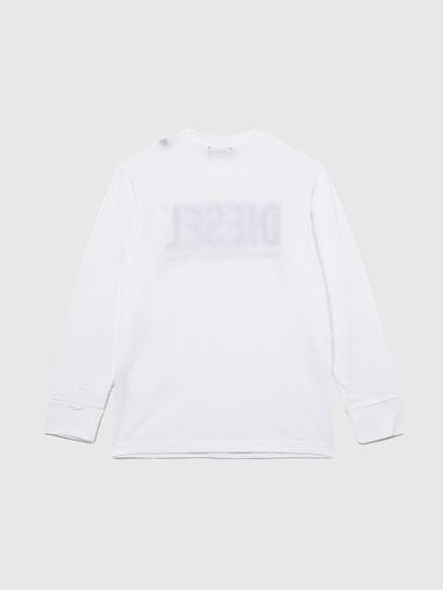 Diesel - TJUSTLOGO ML, Blanco - Camisetas y Tops - Image 2