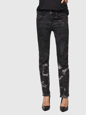D-Ollies JoggJeans 084AZ, Negro/Gris oscuro - Vaqueros