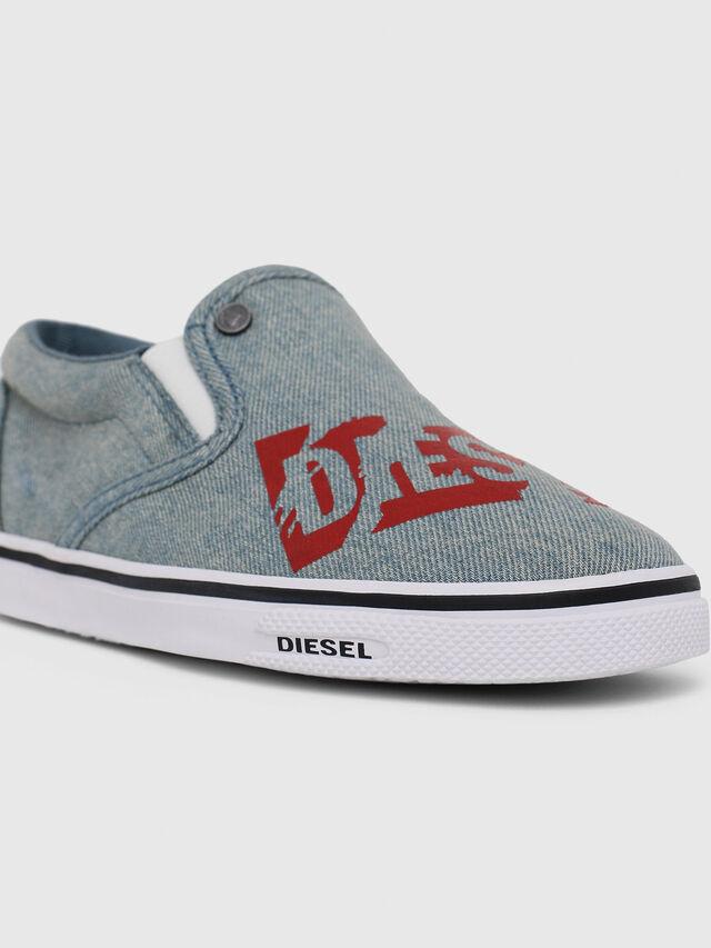 Diesel - SLIP ON 21 DENIM YO, Blue Jeans - Calzado - Image 4