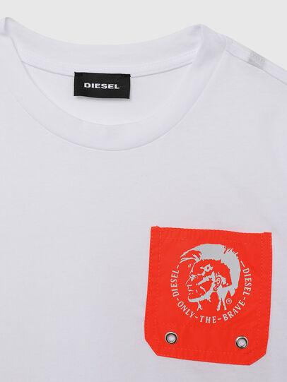 Diesel - TLARS, Blanco/Naranja - Camisetas y Tops - Image 3