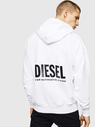 Diesel - LR-S-GIRK-HOOD-VIC, Blanco - Sudaderas - Image 2