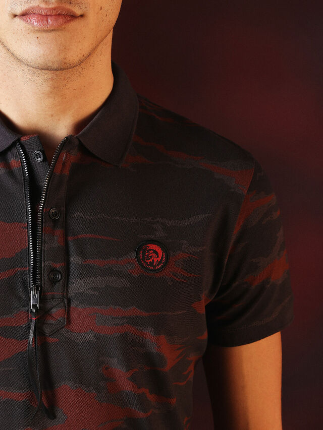 Diesel - DVL-POLO-SPECIAL COLLECTION, Rojo/Negro - Polos - Image 1
