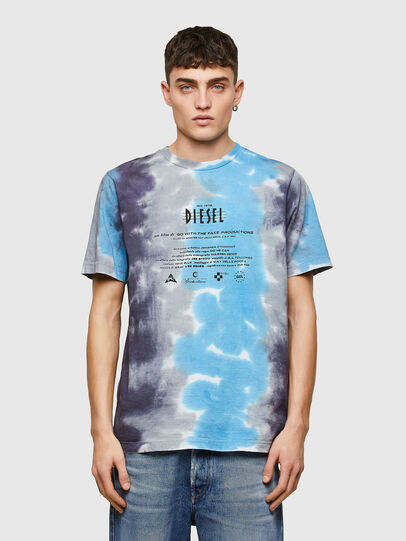 Diesel - T-JUST-E13, Gris/Azul marino - Camisetas - Image 1