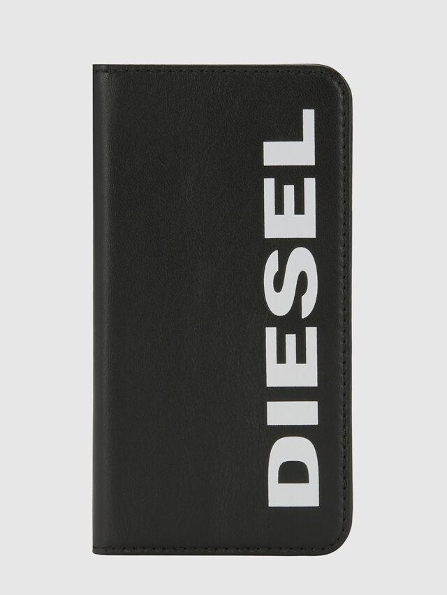 Diesel - SLIM LEATHER FOLIO IPHONE X, Negro - Fundas tipo libro - Image 5