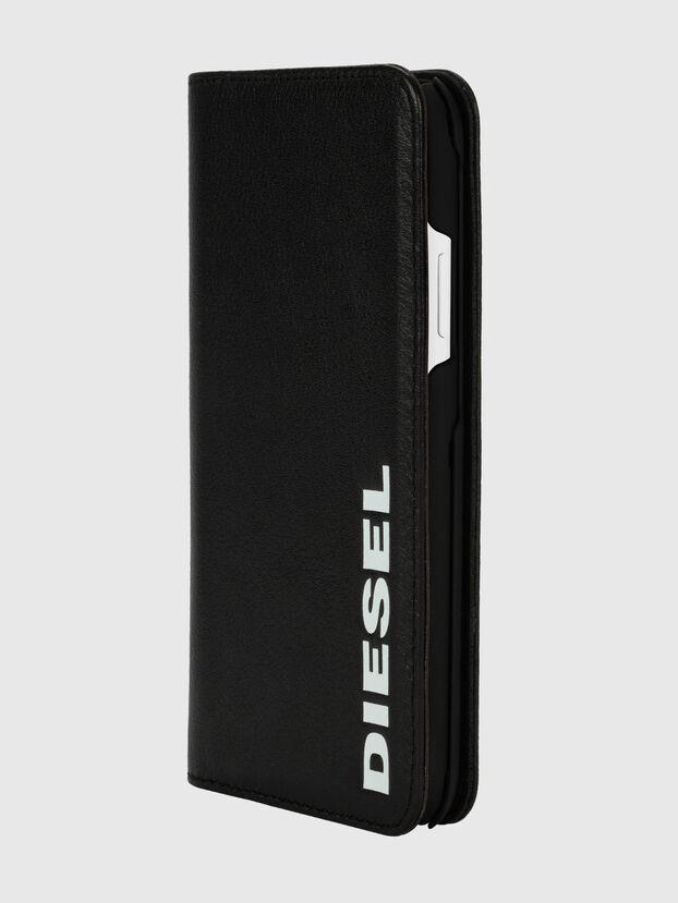 DIESEL 2-IN-1 FOLIO CASE FOR IPHONE XR, Negro/Blanco - Fundas tipo libro