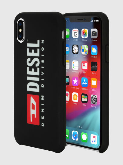 Diesel - DIESEL PRINTED CO-MOLD CASE FOR IPHONE XS & IPHONE X, Negro/Blanco - Fundas - Image 1